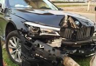 Đà Nẵng:  Khách lái thử làm xe sang BMW tan nát vì đâm gãy cây xanh