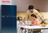 """Tủ lạnh tiết kiệm điện, dung tích """"khủng"""" từ Toshiba"""