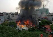 Hà Nội: Cháy lớn trên phố Trương Định, lửa lan sang khu nhà dân