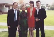 Jessica Minh Anh lần đầu tiên khoe ảnh gia đình