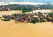 3 xã ở Quảng Bình ngập sâu trong nước qua góc ảnh trên cao