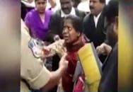 Chồng cắt cổ vợ ngay tại phòng xử án trong một cuộc tranh chấp về tiền bạc