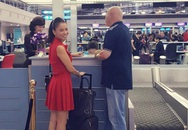 Thu Minh thắm thiết tiễn chồng đi công tác giữa scandal nợ nần