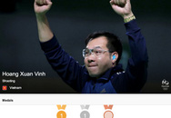 Hoàng Xuân Vinh thuộc Top 10 VĐV thành tích cao Olympic 2016
