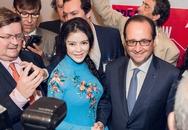 Lý Nhã Kỳ thấy ấm áp khi bắt tay Tổng thống Pháp