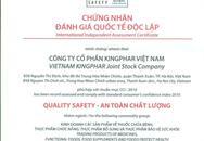 """Kingphar Việt Nam nhận chứng chỉ """"An toàn chất lượng"""""""