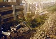 Tàu hỏa đâm xe máy ở Thanh Trì, 2 người tử vong