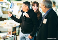 Ngọc Trinh ôm chặt bạn trai 72 tuổi ở Nhật
