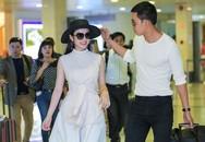 Angela Phương Trinh thân mật với bạn trai Võ Cảnh ở sân bay