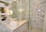 Phòng tắm hiện đại đẹp long lanh nhờ gạch thủy tinh
