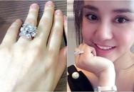 """Vy Oanh khoe nhẫn kim cương """"khủng"""", giống hệt của Hồ Ngọc Hà"""