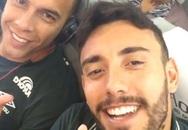 Hình ảnh các cầu thủ Brazil trước lúc máy bay cất cánh