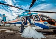 Ảnh cưới lạ bên trực thăng hiện đại của nam DJ nổi tiếng