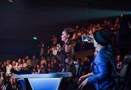 Thu Minh nhảy cuồng nhiệt khi xem Hà Hồ trình diễn