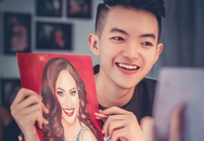 Nam sinh 16 tuổi vẽ chân dung sao Việt sống động như thật