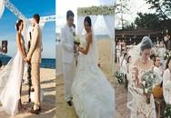 """Lấy người nước ngoài, sao Việt tổ chức đám cưới """"khác người"""" ra sao?"""