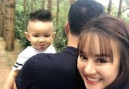 Ông xã bí ẩn của ca sĩ Vy Oanh lần đầu lộ diện cùng con trai