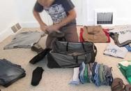 Chiêu xếp quần áo cả tháng chỉ trong một chiếc balo