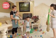 Hai quý tử của Đăng Khôi giúp bố mẹ dọn nhà, đón Tết