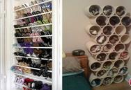 Những kiểu kệ giầy, tủ giày sáng tạo dành riêng cho nhà ống, nhà chật