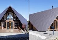 """Căn nhà có kiến trúc mái """"rủ"""" xuống sàn"""