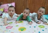 Những hình ảnh mới về 3 bé sinh cùng trứng hiếm gặp 200 triệu ca mới có 1 trên thế giới