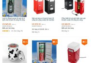 Tủ lạnh đựng được 4 lon Coca, quạt USB ồ ạt đổ bộ chợ mạng