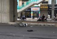 Hà Nội: Nam thanh niên đi xe máy với tốc độ cao tông trúng 2 người đi bộ