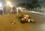 3 xe máy tông nhau, nam thanh niên 19 tuổi ngã đập đầu xuống đường tử vong
