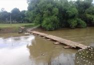 Thiệu Hóa, Thanh Hóa: Hàng trăm học sinh phải nghỉ học vì cầu bị nước cuốn trôi