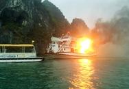 Tàu nghỉ đêm trên vịnh Hạ Long bốc cháy