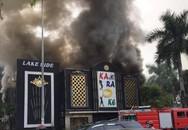 Hình ảnh toàn cảnh vụ cháy lớn quán Karaoke Lake Side ở Linh Đàm