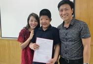MC Diệp Chi khoe niềm vui bất ngờ của cha con diễn viên Quốc Tuấn