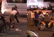 Đôi nam nữ chửi mắng, đánh đập nhau dã man giữa phố đông người