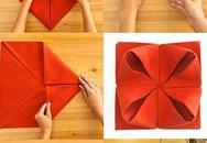 7 cách gấp khăn ăn dễ làm khi nhà có tiệc