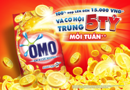 """Chương trình khuyến mại """"mua Omo, có cơ hội trúng 5 tỷ đồng mỗi tuần"""""""
