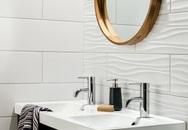 Gạch ốp 3D đang là lựa chọn của nhiều gia đình muốn có phòng tắm sang chảnh