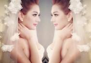 Lộ clip thử váy cưới siêu lung linh của Lâm Khánh Chi 'đốn tim' fan