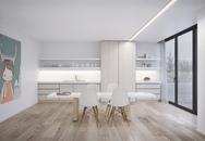 Phòng ăn đẹp không tỳ vết nhờ kết hợp sơn trắng với nội thất gỗ tự nhiên
