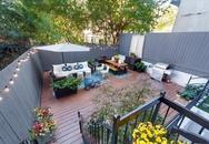 Ngôi nhà có sân vườn rộng đến 58m² khiến nhiều người mơ ước