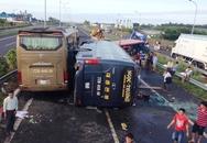 Nhiều ôtô tông nhau trên cao tốc Long Thành, 10 người nhập viện