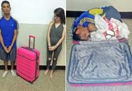 Cô gái giấu bạn trai vào vali để vượt ngục