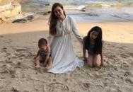 """Lưu Hương Giang hiếm hoi khoe ảnh bên bé thứ 2 """"giấu mặt"""" và con gái đầu lòng"""