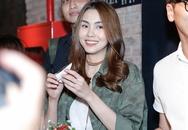 Tăng Thanh Hà trẻ trung đến dự họp báo của Trà My Idol