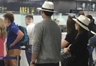 Kim Tae Hee lấy túi che bụng bầu khi bị 'chộp' ở sân bay Italy