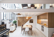 Sống trong căn hộ có tầng lửng đẹp và tiện nghi thế này thì cần gì tích góp mua nhà đất