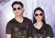Vợ chồng Trương Quỳnh Anh mặc đồ đôi đi xem phim