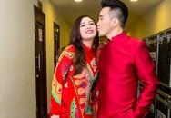 Vợ chồng Dương Ngọc Thái tình tứ ở hậu trường