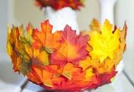 Ra sân nhặt ngay lá vàng, hoa rụng về làm... bát đựng đồ siêu xinh siêu độc