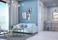 Thiết kế căn hộ 82 m2 chỉ nhìn đã thấy mát cho gia đình trẻ ở Sài Gòn